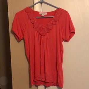 August silk woman's top pink size large
